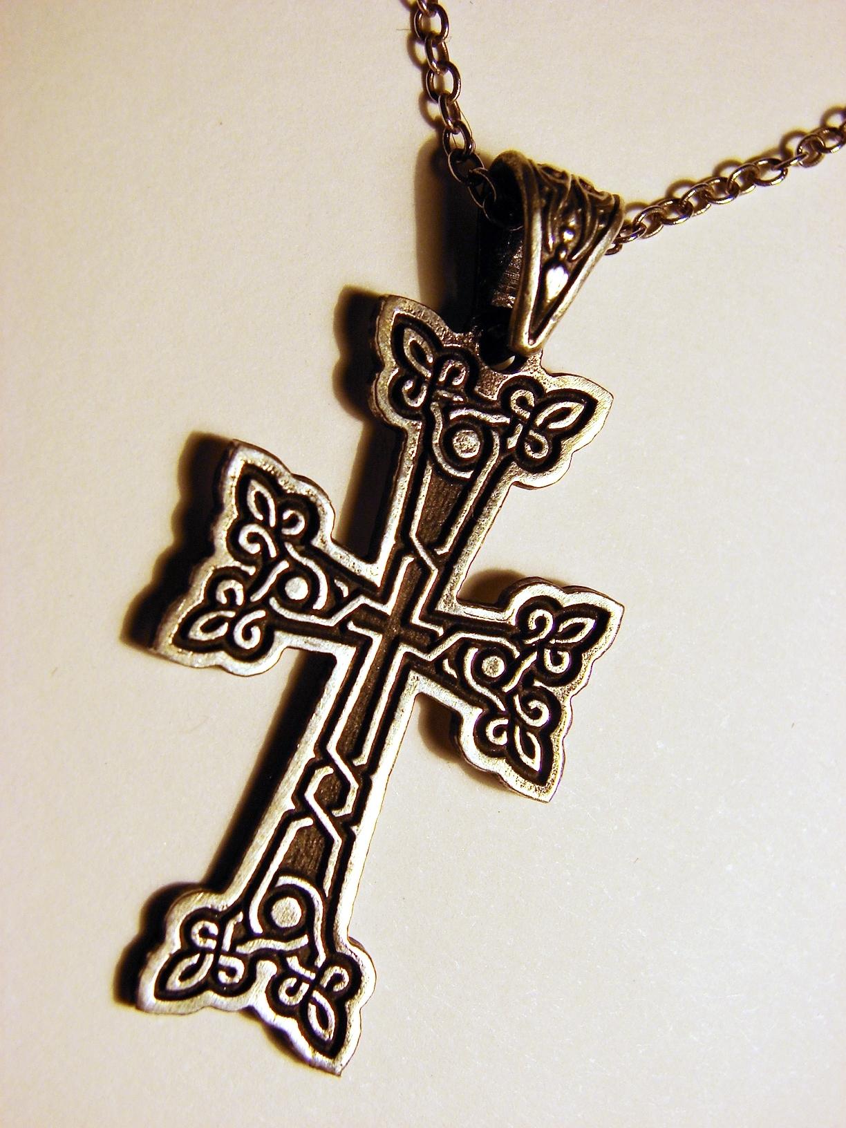 40 mm Jewels Obsession Armenian Cross Pendant Sterling Silver 925 Armenian Cross Pendant